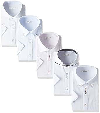 ビジネスマンサポート 半袖ワイシャツ 5枚セット 形態安定 豊富な7サイズ es 022-M