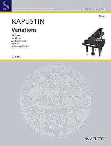 カプースチン: 変奏曲 Op.41/ショット・ミュージック社/マインツ/ピアノ・ソロ