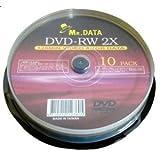 データ用DVD-RW4.7GB 2倍速 10枚 DVD-RW47-2X10PS×20P  【20個セット】