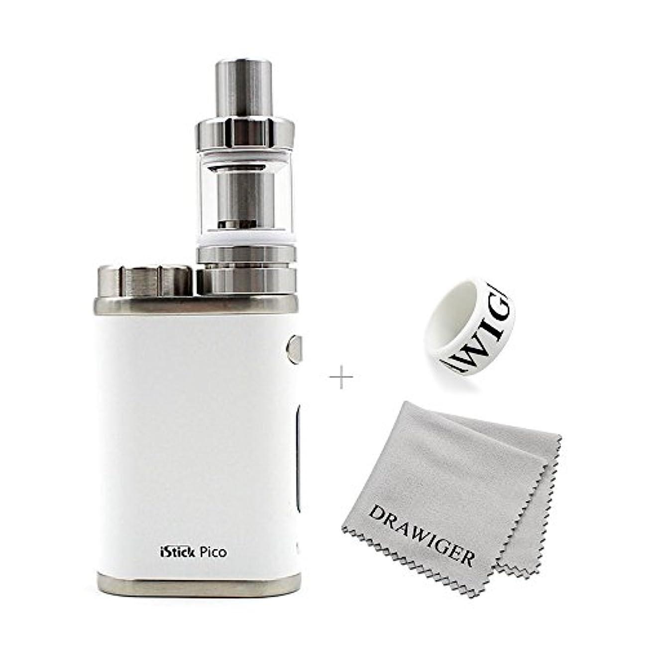 食料品店空虚シガレットEleaf(イーリーフ)iStick Pico+Mel3 mini 2mlアトマイザー 電子タバコ スターターキット(ホワイト)