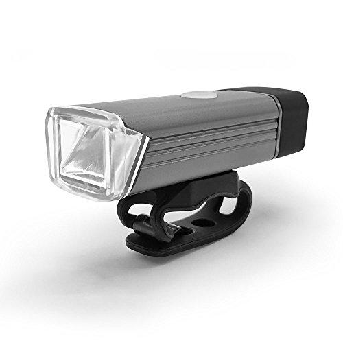 ziyue ミニ自転車ライト USB充電式 アルミ合金製 IPX4防水 アンチグレア (シルバー)