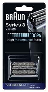 【正規品】 ブラウン シェーバー シリーズ3 網刃・内刃一体型カセット シルバー F/C32S-5