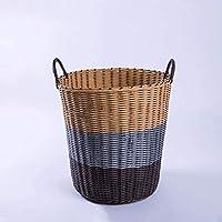 プラスチック織物ランドリーバスケット玩具雑貨貯蔵バスケット通気性 - 2色オプション (色 : B, サイズ さいず : 41×30×38cm)