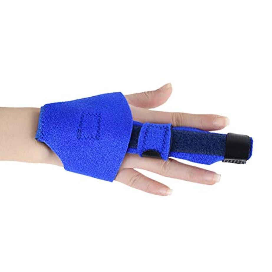 砦合わせてリストHeallily指関節矯正副木骨折指固定ブレース指延長矯正スリーブ(ブルー)