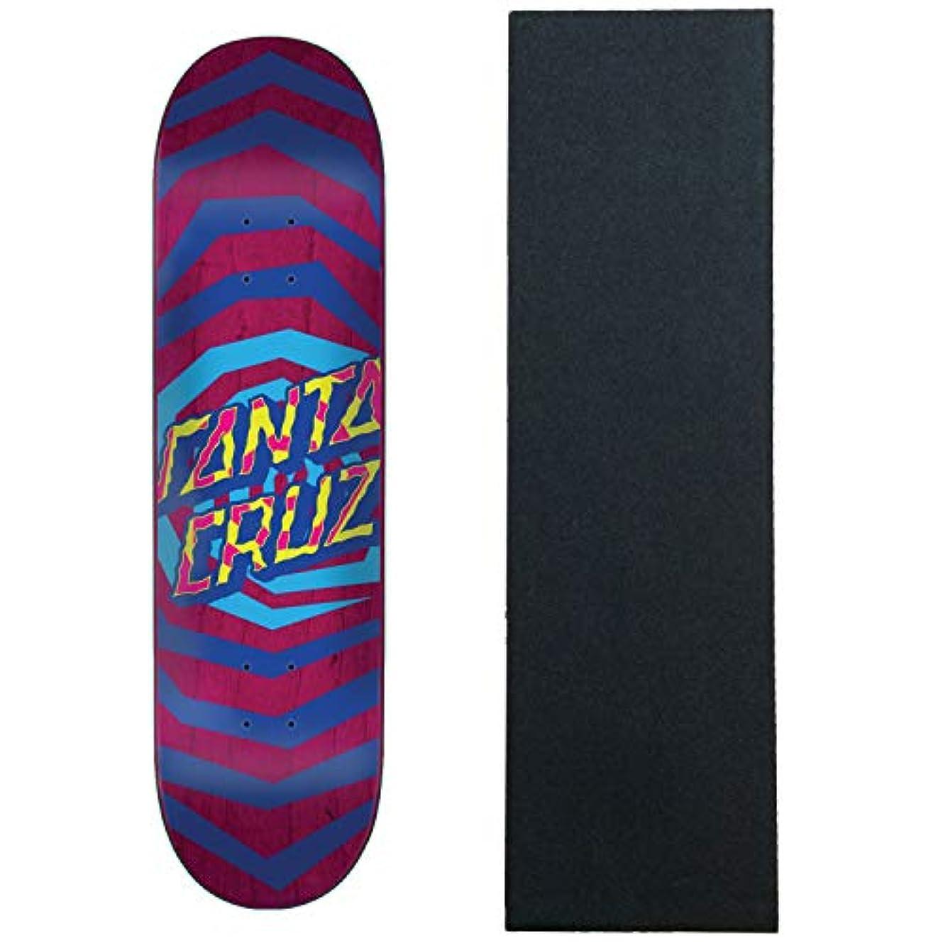 兄捨てるブルジョンSanta Cruz スケートボード デッキ イリュージョン ドット パープル 8.25インチ グリップ付き