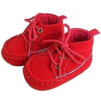 b7266fb95e9b45 ベビー シューズ 軽くて やわらかい キッズ スニーカー 子供 靴 (赤色, 11cm)