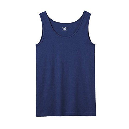(グンゼ)GUNZE Tuche(トゥシェ) INTIMATE 着るコスメ 綿100% タンクトップ TC4054 BN インクブルー M