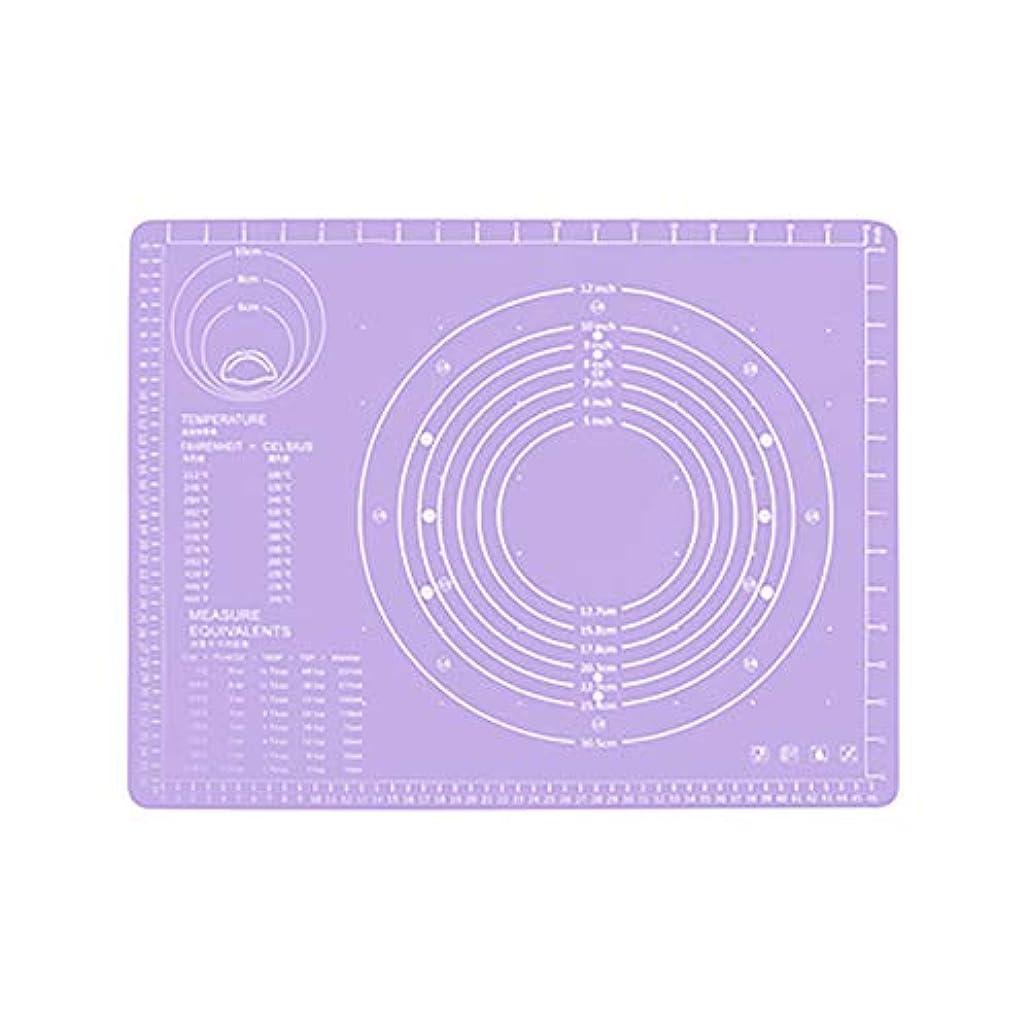 快適重要リビジョンRefaxi シリコーン生地ローリング混練パッド高温ケーキペストリーベーキングパッド(紫)