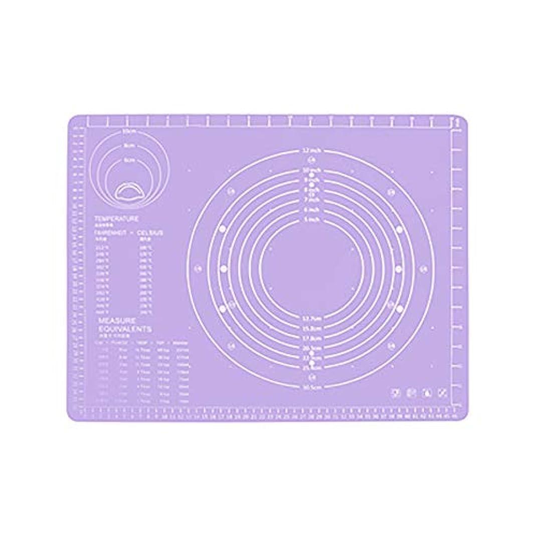 真珠のような秀でる早くRefaxi シリコーン生地ローリング混練パッド高温ケーキペストリーベーキングパッド(紫)