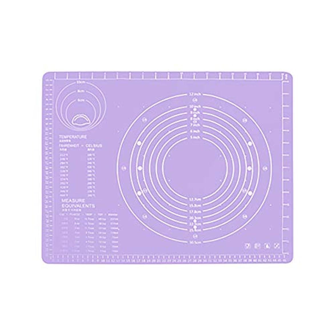 クリスマスサポートはっきりとRefaxi シリコーン生地ローリング混練パッド高温ケーキペストリーベーキングパッド(紫)