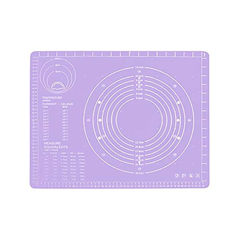 ペニージャーナリストボイラーRefaxi シリコーン生地ローリング混練パッド高温ケーキペストリーベーキングパッド(紫)