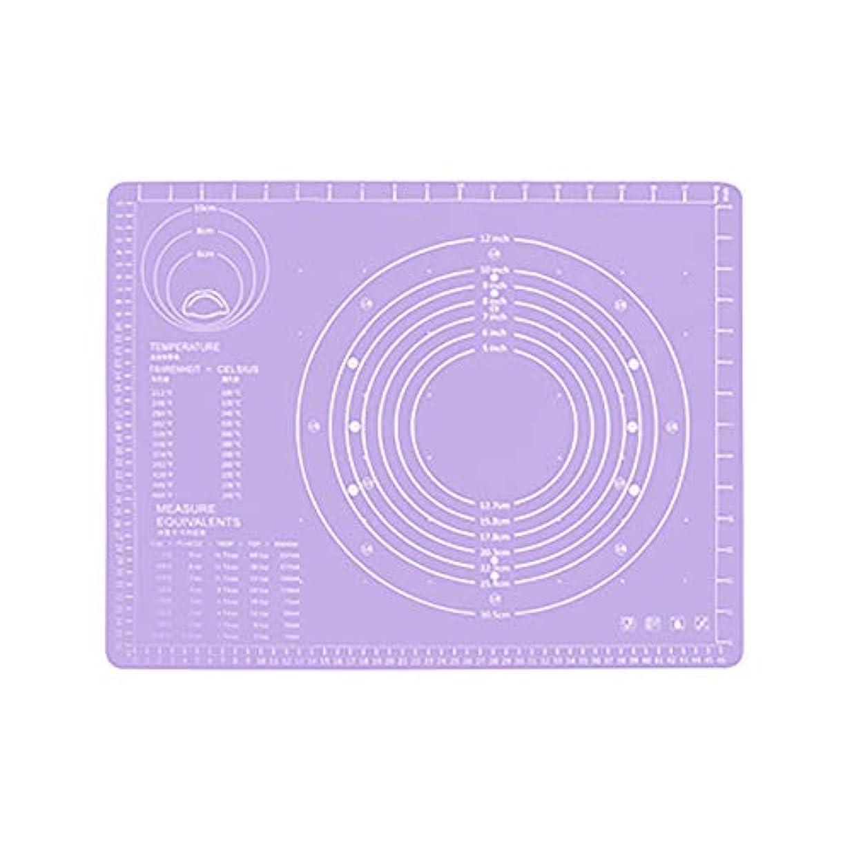 聴覚ヘルメット時間Refaxi シリコーン生地ローリング混練パッド高温ケーキペストリーベーキングパッド(紫)