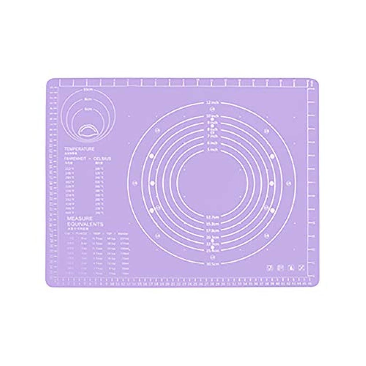 Refaxi シリコーン生地ローリング混練パッド高温ケーキペストリーベーキングパッド(紫)