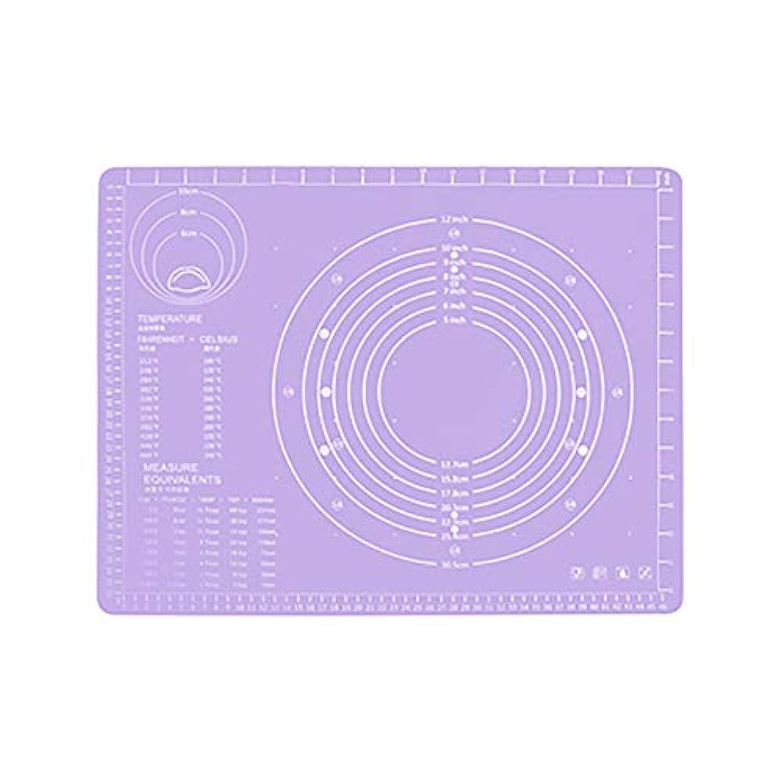 ハイキングヘビ教授Refaxi シリコーン生地ローリング混練パッド高温ケーキペストリーベーキングパッド(紫)