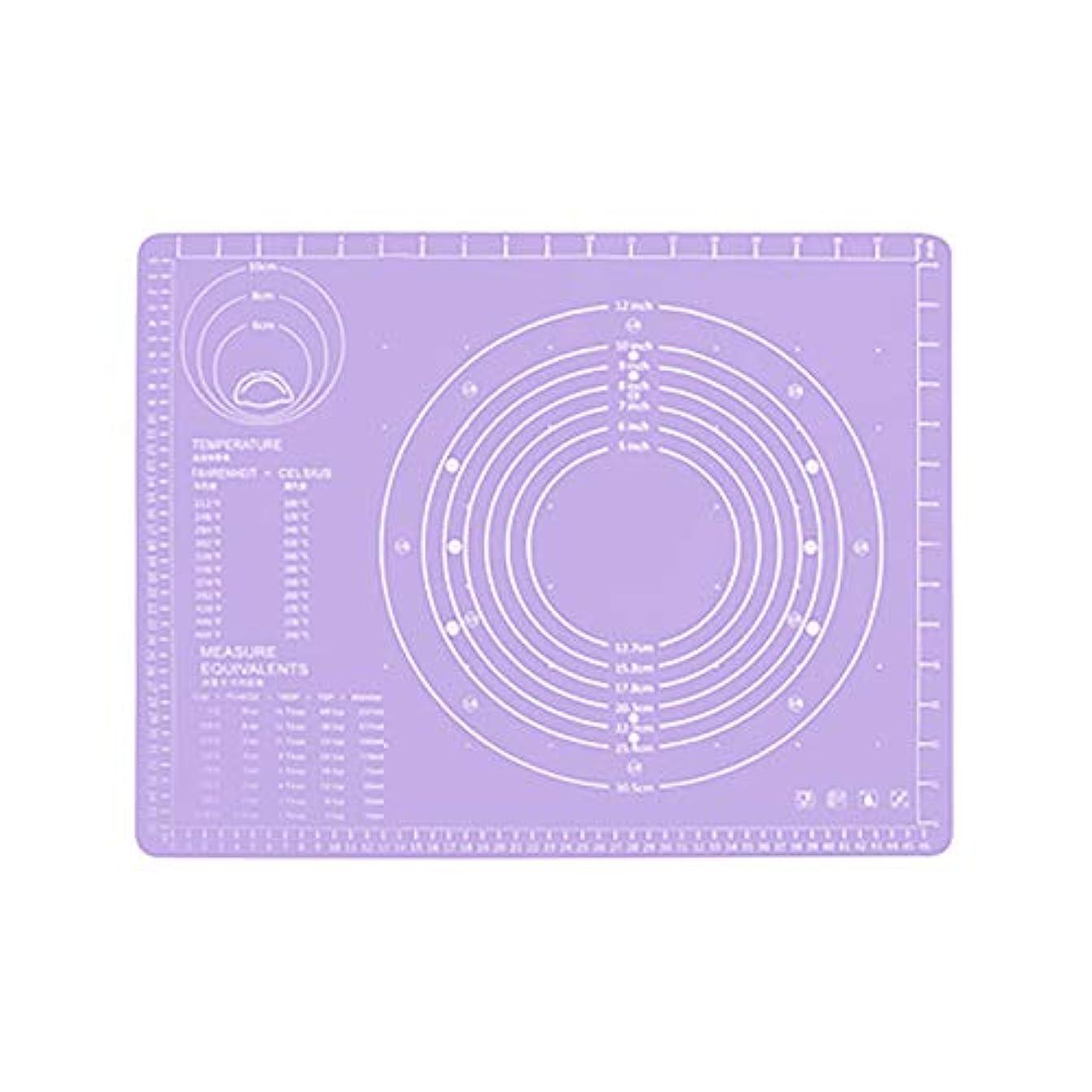 種をまくセンサーずっとRefaxi シリコーン生地ローリング混練パッド高温ケーキペストリーベーキングパッド(紫)