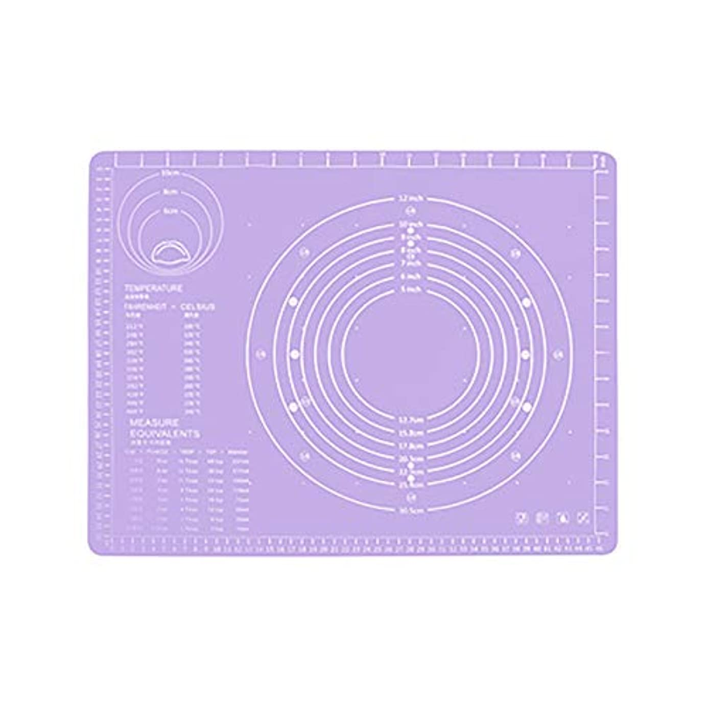 練る頭痛ファブリックRefaxi シリコーン生地ローリング混練パッド高温ケーキペストリーベーキングパッド(紫)