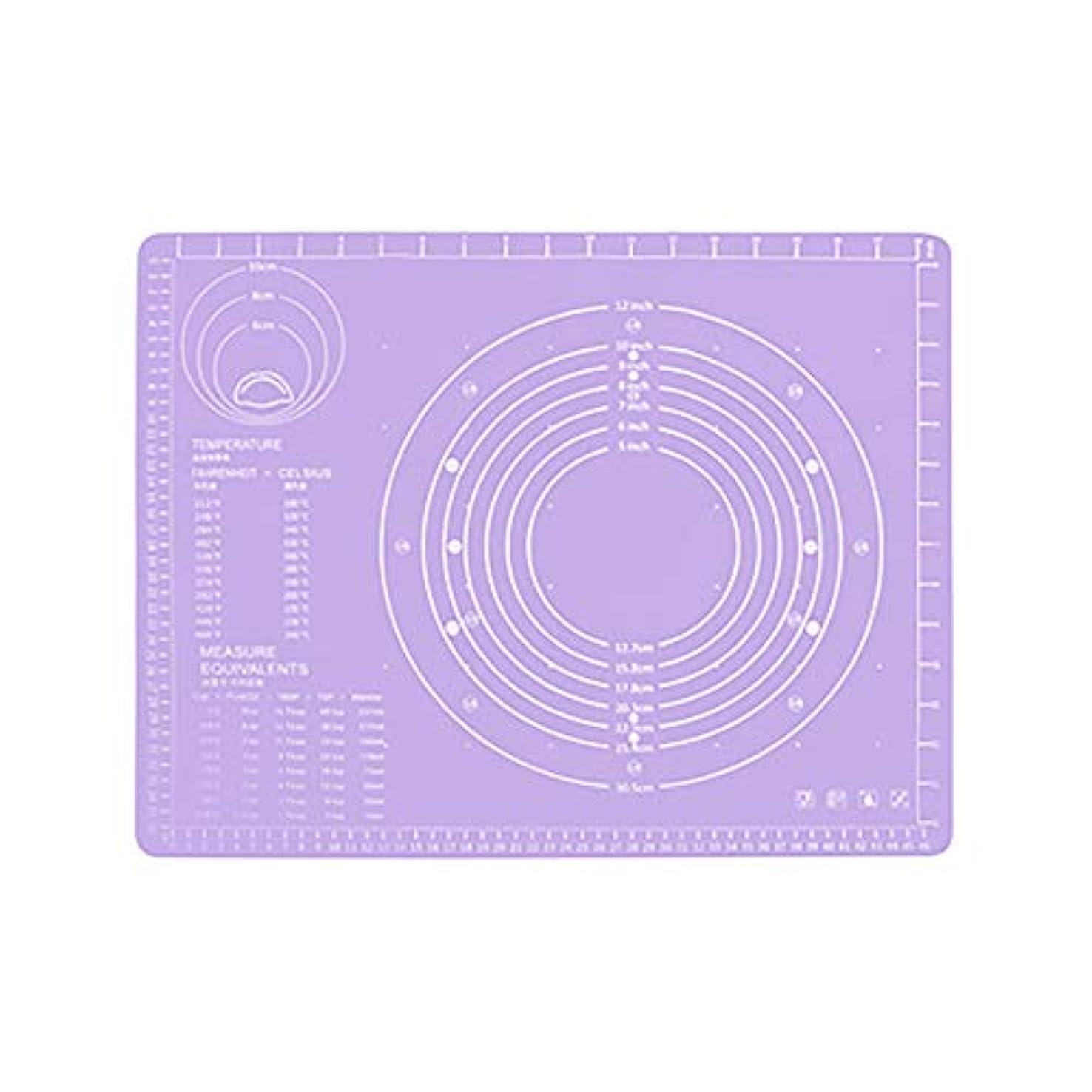 ウルル正しく産地Refaxi シリコーン生地ローリング混練パッド高温ケーキペストリーベーキングパッド(紫)