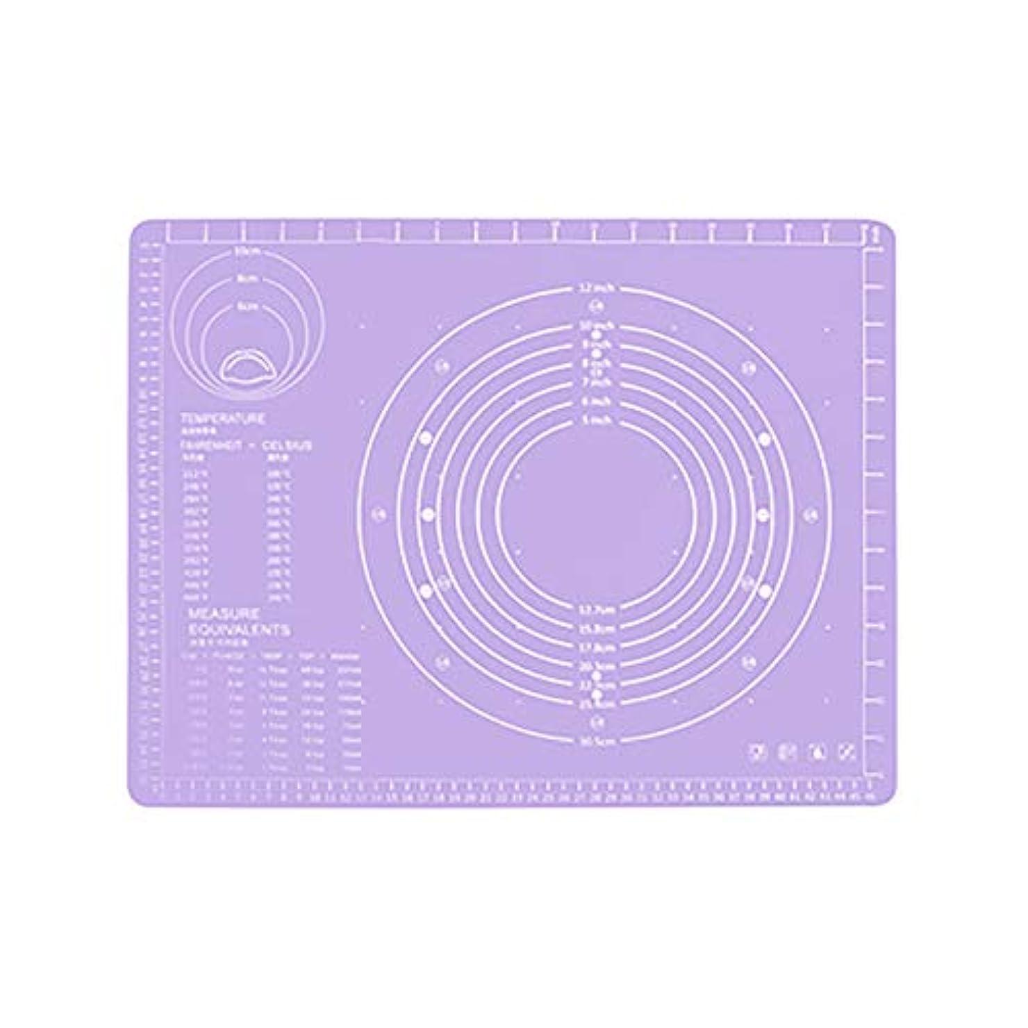 高いディスパッチロバRefaxi シリコーン生地ローリング混練パッド高温ケーキペストリーベーキングパッド(紫)