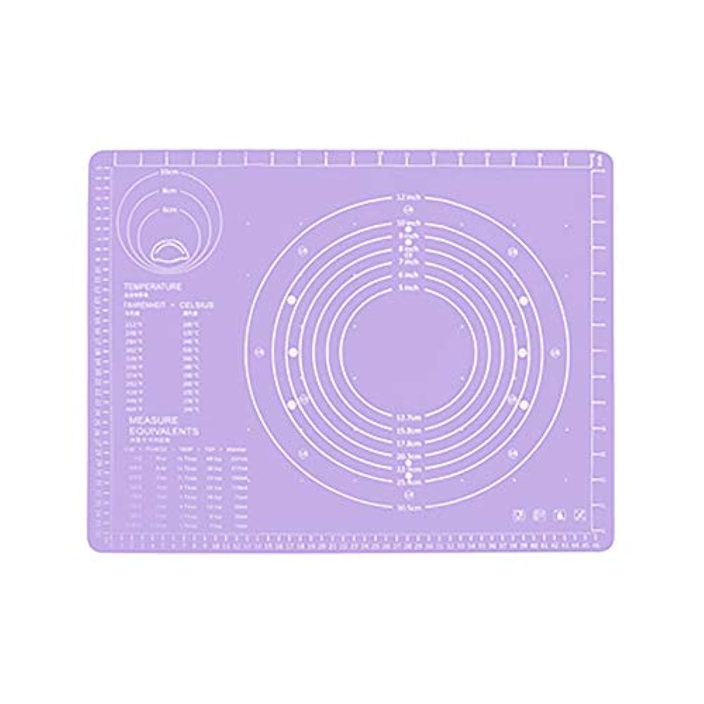 集める効率的試みRefaxi シリコーン生地ローリング混練パッド高温ケーキペストリーベーキングパッド(紫)