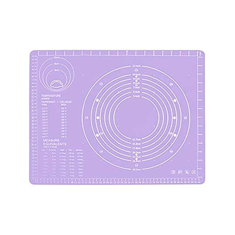 小道具ちょっと待ってチェスRefaxi シリコーン生地ローリング混練パッド高温ケーキペストリーベーキングパッド(紫)