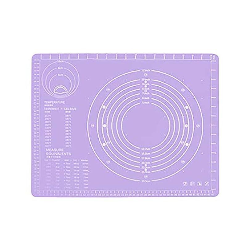 じゃがいもリース週間Refaxi シリコーン生地ローリング混練パッド高温ケーキペストリーベーキングパッド(紫)