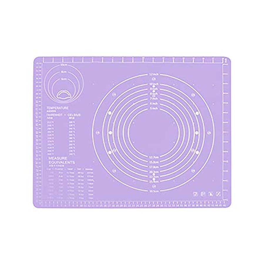 自信がある土地パッケージRefaxi シリコーン生地ローリング混練パッド高温ケーキペストリーベーキングパッド(紫)