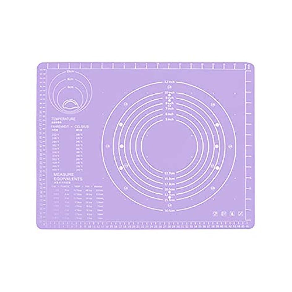 咲くパッケージ祭りRefaxi シリコーン生地ローリング混練パッド高温ケーキペストリーベーキングパッド(紫)