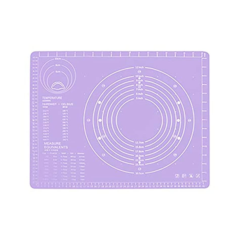 ロンドン台風高速道路Refaxi シリコーン生地ローリング混練パッド高温ケーキペストリーベーキングパッド(紫)