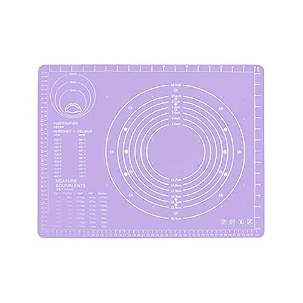 風閉塞交流するRefaxi シリコーン生地ローリング混練パッド高温ケーキペストリーベーキングパッド(紫)