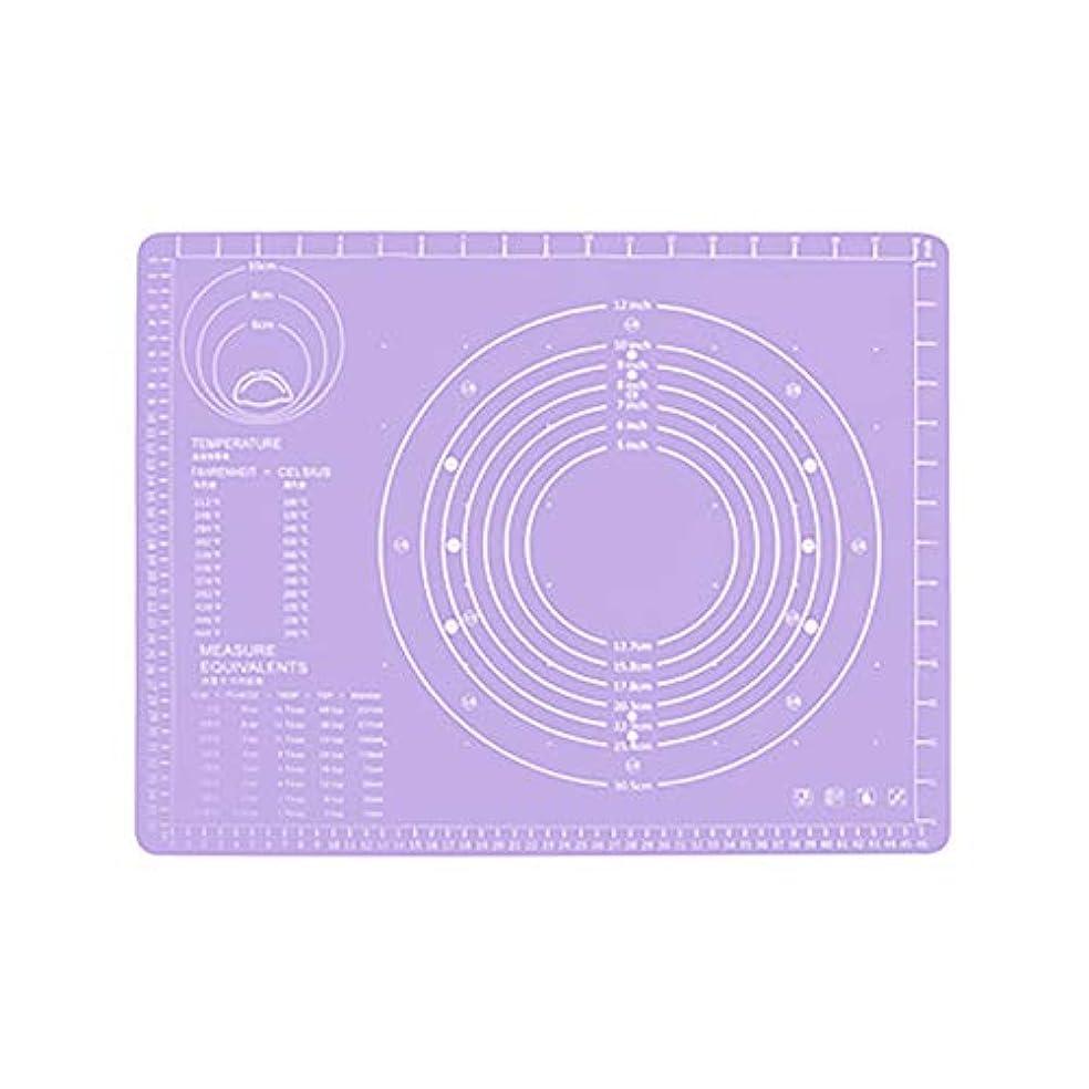 グレー蓋費用Refaxi シリコーン生地ローリング混練パッド高温ケーキペストリーベーキングパッド(紫)
