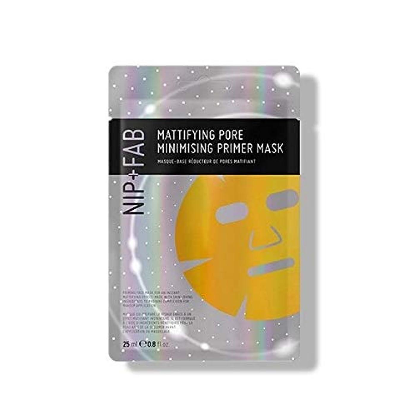 第四いたずらな木材[Nip & Fab] + Fab艶消しオイルコントロールティーツリープライマーマスク25ミリリットルニップ - NIP+FAB Mattifying Oil Control Tea Tree Primer Mask 25ml...