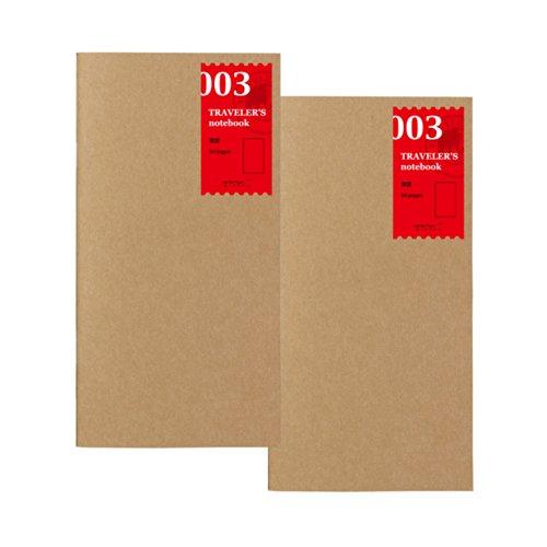 トラベラーズノート リフィル 無罫 2冊パック レギュラーサイズ 14247006