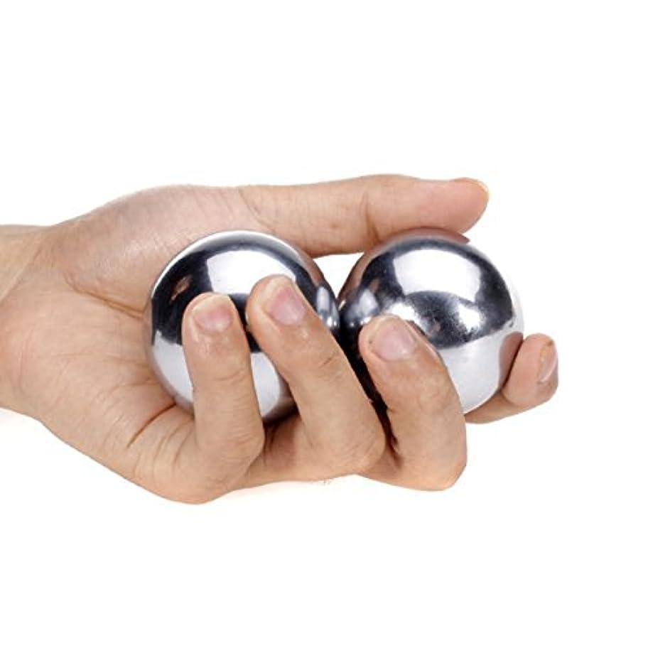 氷ボンドステンレススチール保定ボールハンドボールソリッド50mm, Stainless Steel Stress Relief Balls,Baoding Balls Chinese Health Exercise Stress...