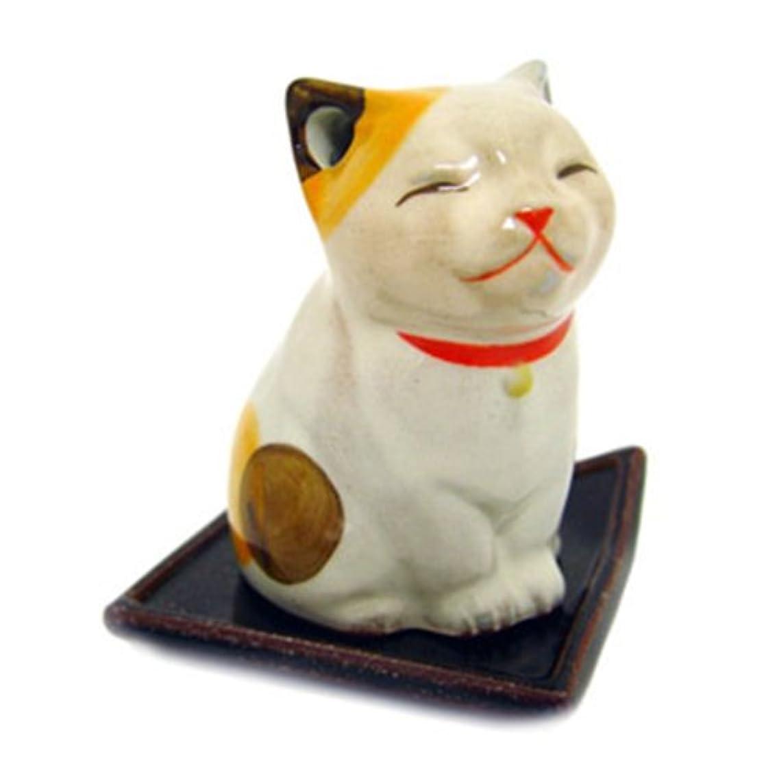 受益者傑作ミネラルSHOYEIDO 猫のお香ホルダー