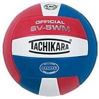 TachikaraインドアFull GrainレザーCompetitionバレーボール(スカーレット/ホワイト/ロイヤル