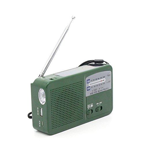 ポータブルラジオ FM/AM/ワイドFM対応 500MaH大...