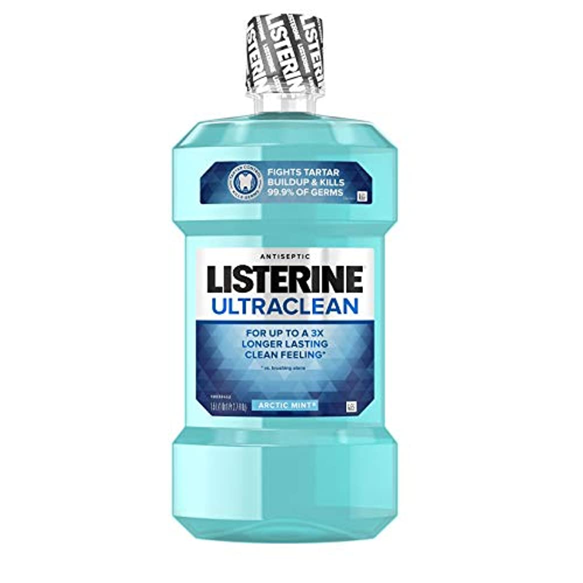 腹部助けて昼間Listerine UltraClean Mouthwash, Arctic Mint,1.5 Liters by Listerine