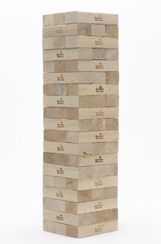 Garden Games Giant Tower - Giant 0.9m -1.8m Wooden Tower Block Game