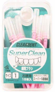 クリアデント歯間ブラシ(お徳用) サイズ1超極細 15本入ピンク