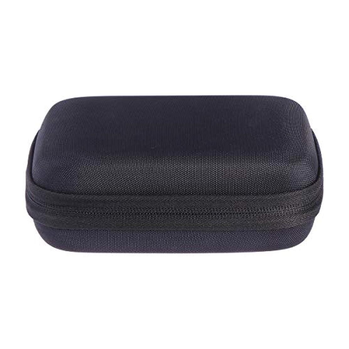 口くつろぎ不道徳SUPVOX エッセンシャルオイルバッグキャリングケースオーガナイザーローラーボトル収納袋10スロットハードシェルオイルケースホルダー(ブラック)