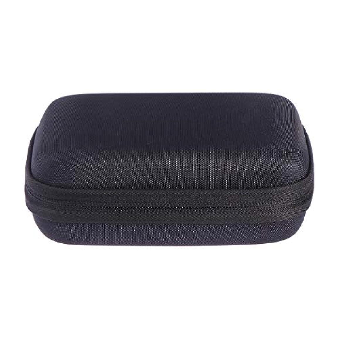 リーフレットひねくれたにおいSUPVOX エッセンシャルオイルバッグキャリングケースオーガナイザーローラーボトル収納袋10スロットハードシェルオイルケースホルダー(ブラック)