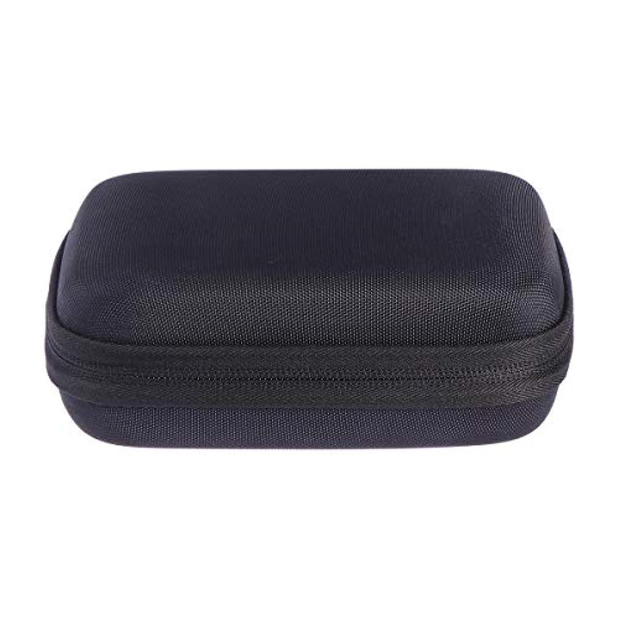 シャーク絶対の息切れSUPVOX エッセンシャルオイルバッグキャリングケースオーガナイザーローラーボトル収納袋10スロットハードシェルオイルケースホルダー(ブラック)