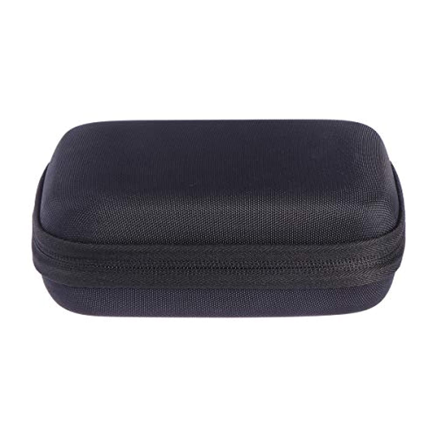講義過敏な支配するSUPVOX エッセンシャルオイルバッグキャリングケースオーガナイザーローラーボトル収納袋10スロットハードシェルオイルケースホルダー(ブラック)