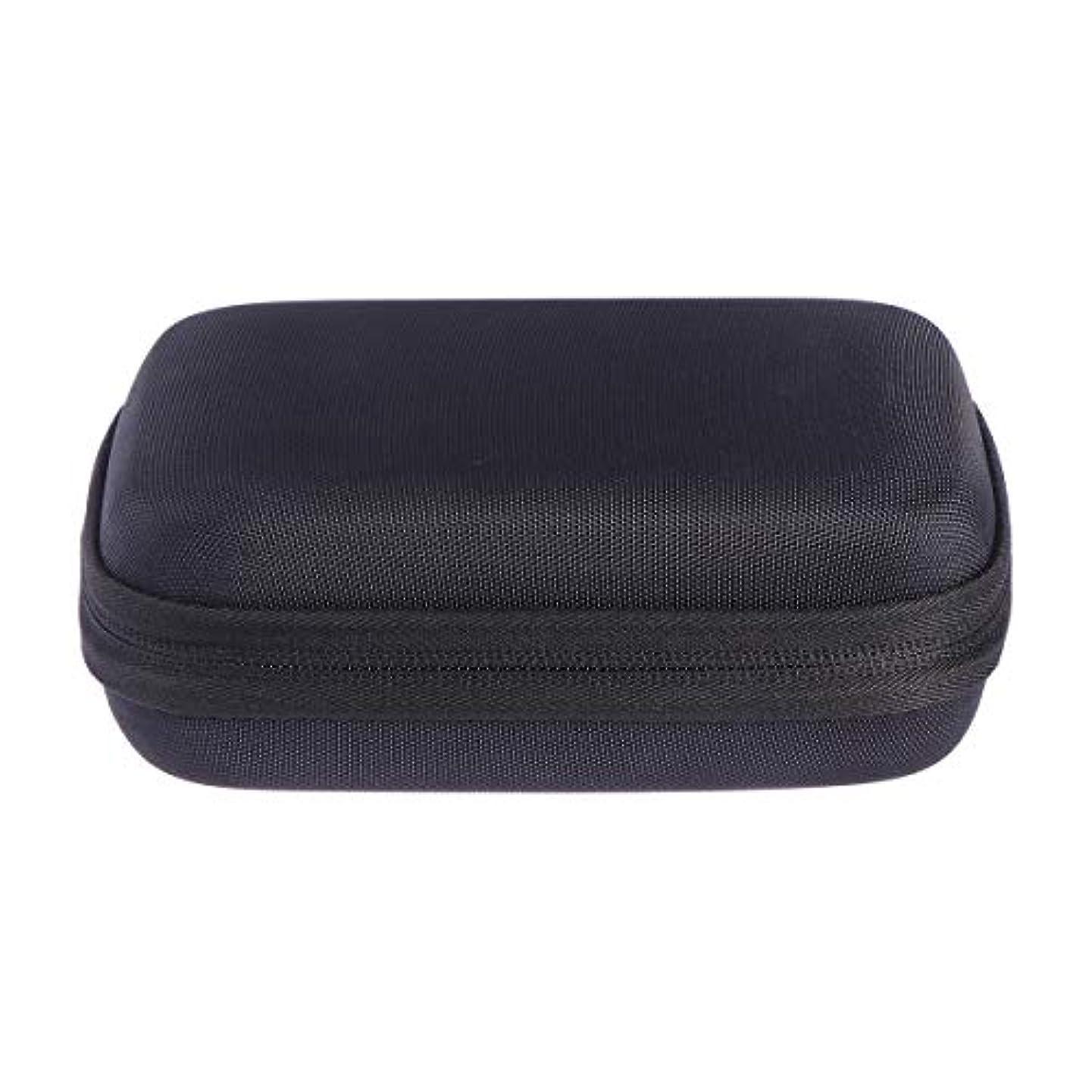 線形フィット動かないSUPVOX エッセンシャルオイルバッグキャリングケースオーガナイザーローラーボトル収納袋10スロットハードシェルオイルケースホルダー(ブラック)