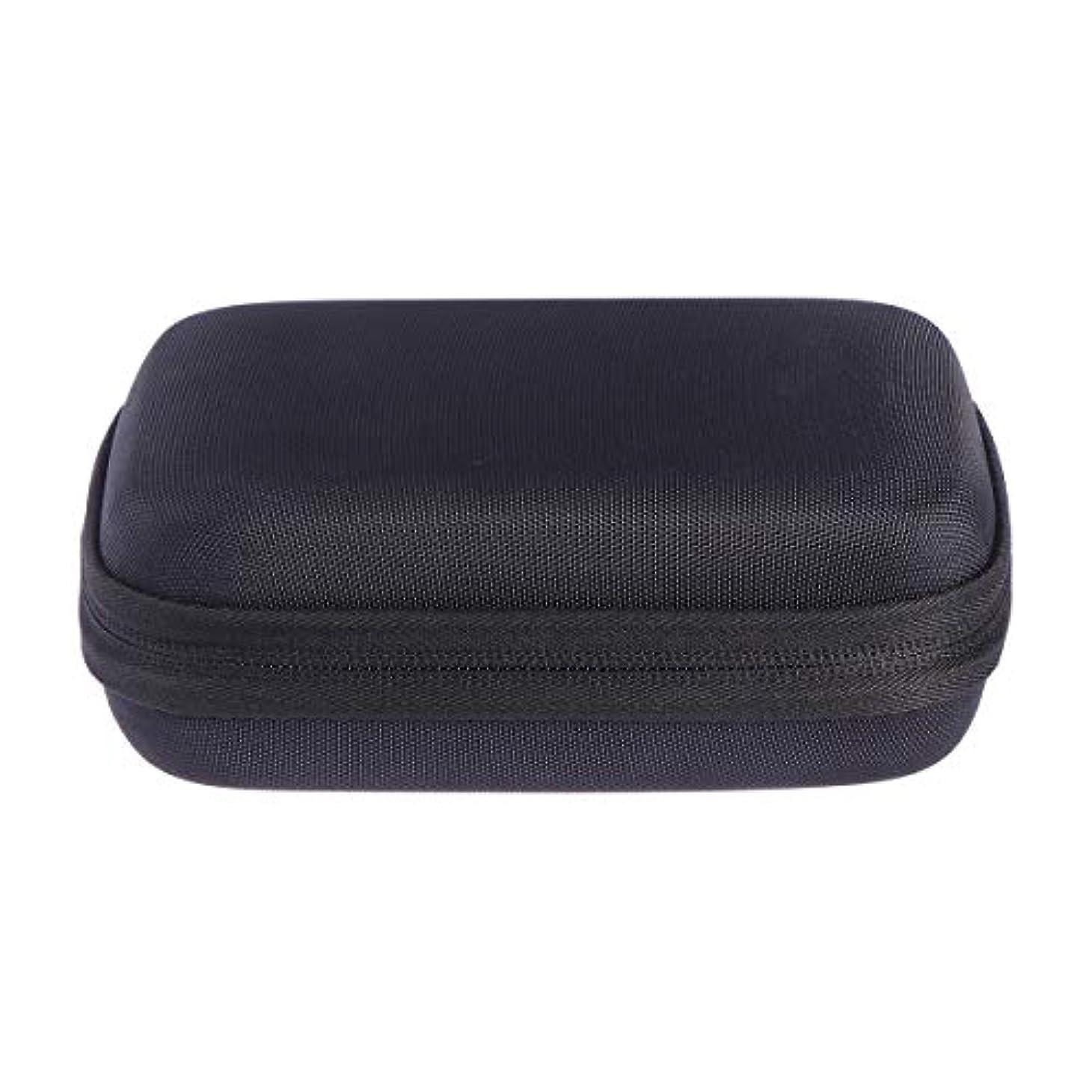 カカドゥ高潔なインフレーションSUPVOX エッセンシャルオイルバッグキャリングケースオーガナイザーローラーボトル収納袋10スロットハードシェルオイルケースホルダー(ブラック)