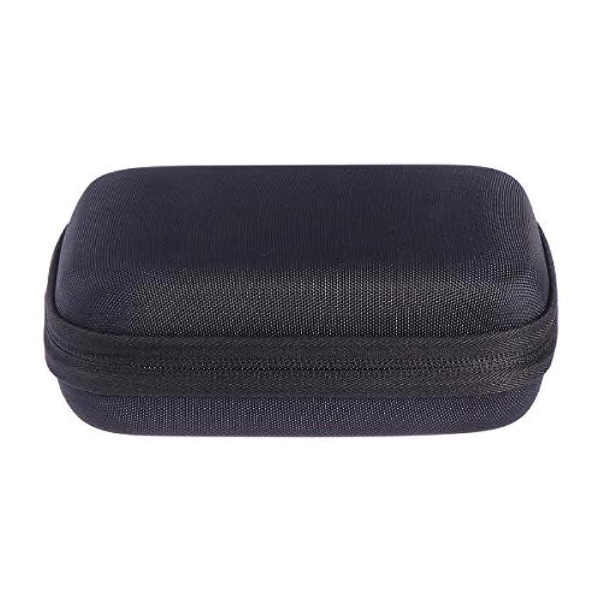 袋言うネックレットSUPVOX エッセンシャルオイルバッグキャリングケースオーガナイザーローラーボトル収納袋10スロットハードシェルオイルケースホルダー(ブラック)