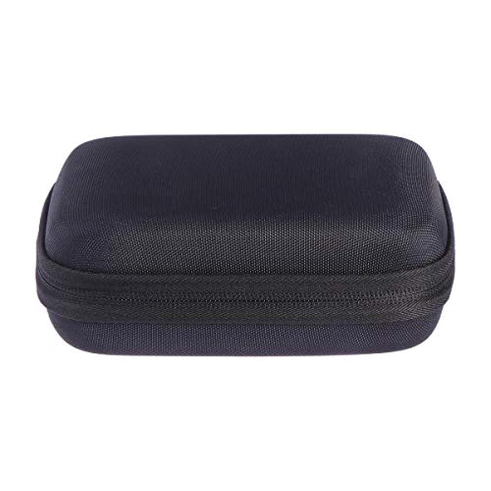 収容するけがをするアンタゴニストSUPVOX エッセンシャルオイルバッグキャリングケースオーガナイザーローラーボトル収納袋10スロットハードシェルオイルケースホルダー(ブラック)