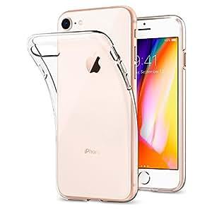 【Spigen】 iPhone8 ケース / iPhone7 ケース, [ クリア 超薄型 超軽量 ] リキッド・クリスタル アイフォン 8 / 7 用 カバー (iPhone8 / iPhone7, クリスタル クリア)
