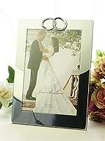 リングフォトフレーム 2L  写真立て 2L判 縦置き 結婚写真 ブライダル 記念 指輪