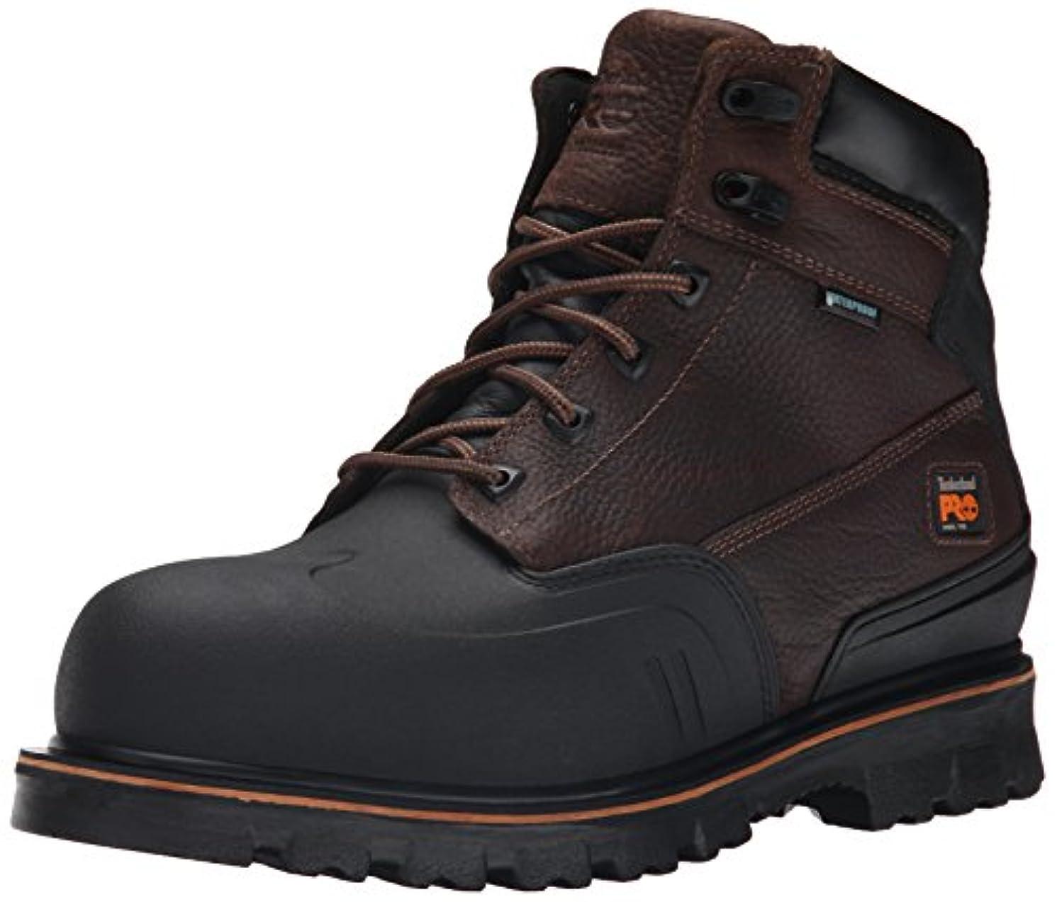 落ち着いた気配りのあるペレットTimberland PRO Men's 6 Inch Rigmaster XT Steel Toe Waterproof Work Boot, Brown Tumbled Leather, 9.5 W US